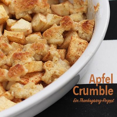 Ein schnelles Apfel Crumble Rezept gegen Thanksgiving-Weh