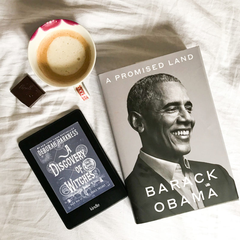 Currently Reading: Obama's A Promised Land und A Discovery of Witches