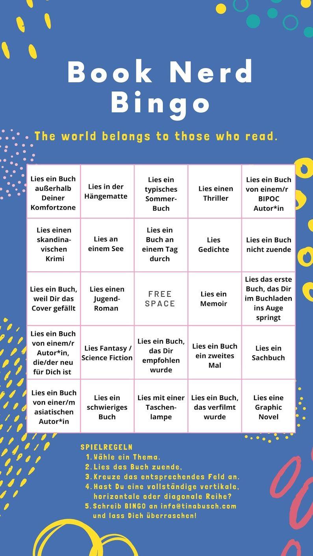 Summer Book Bingo deutsch