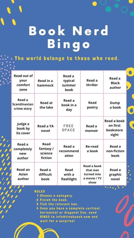 Summer Book Bingo english